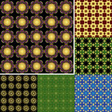 Seamless vector backgrounds with geometric elements Royalty Free Stock Photos
