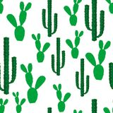 Seamless backgrounds with cactus flowers. Seamless backgrounds with green cactus flowers Royalty Free Stock Photos
