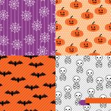 Seamless backgrounds of Halloween-related objects. Picture was made in eps 10 with gradients and transparency royalty free illustration