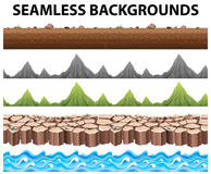 Seamless backgrounds with mountains and ocean. Illustration Royalty Free Stock Photography