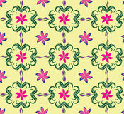 Seamless backgrounds pattern soft color flora stock illustration