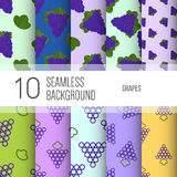 10 seamless backgrounds or patterns with fruit. Grape. 10 seamless backgrounds or patterns with fruit. Grape royalty free illustration