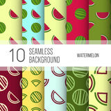 10 seamless backgrounds or patterns with watermelon. 10 seamless backgrounds or patterns with watermelon Vector Illustration