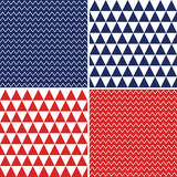 Seamless backgrounds in red white blue independence day Royalty Free Stock Image
