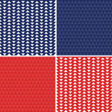 Seamless backgrounds red white blue for independence day Stock Photography