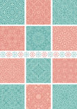Seamless backgrounds. Set of 12 floral vintage seamless patterns Stock Image