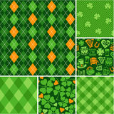 Seamless backgrounds set - scrapbook paper St. Patricks Day Royalty Free Stock Photo