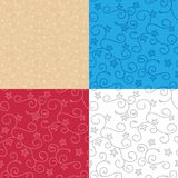 Seamless backgrounds with swirl texture - vector set of patterns. Seamless backgrounds with swirl texture - vector set of floral patterns Stock Illustration