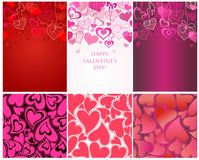 Seamless backgrounds for Valentines day Royalty Free Stock Photos