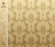 Seamless backgroung flower beige Stock Photos