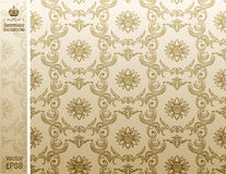 Seamless backgroung Pattern beige Stock Photos