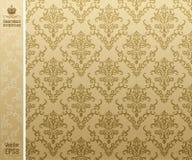 Seamless backgroung vintage beige stock illustration