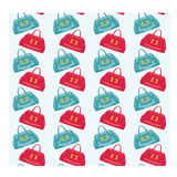 Seamless bags pattern Royalty Free Stock Photo