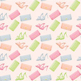 Seamless bags and shoes pattern Royalty Free Stock Image
