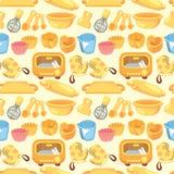 Seamless bake tool pattern Royalty Free Stock Photography