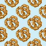 Seamless bakery pattern Stock Images