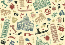 Seamless bakgrund av Italien royaltyfri illustrationer