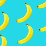 Seamless bakgrund för banan Arkivfoto