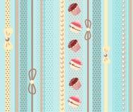 Söt tårtabakgrund vektor illustrationer