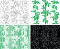Seamless bakgrund för växt Arkivfoton