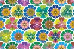 Seamless bakgrund från multi-colored blommasim stock illustrationer