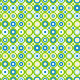 Seamless bakgrund för koncentriska cirklar Arkivfoton