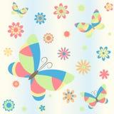 Bakgrund med fjärilar Vektor Illustrationer