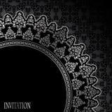 Seamless bakgrund med ett elegantt inramar royaltyfri illustrationer
