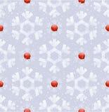 Seamless bakgrund med snowflakes Arkivfoto