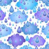 Seamless bakgrund med tappar av en regna Arkivfoton