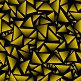 Seamless bakgrund svarta och guld- trianglar Royaltyfria Bilder