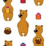 seamless bakgrundsbjörngåvor Royaltyfri Illustrationer