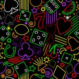seamless bakgrundsdobblerineon royaltyfri illustrationer