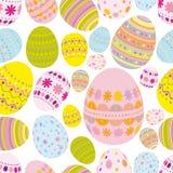 seamless bakgrundseaster ägg stock illustrationer