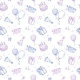 seamless bakgrundsfödelsedag royaltyfri illustrationer