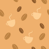 seamless bakgrundskaffe Royaltyfri Bild