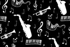 seamless bakgrundsmusik vektor illustrationer