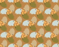 Seamless Bald Eagle Pattern Background Camouflage Colors Royalty Free Stock Photo