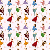 Seamless Ballet dancer pattern Royalty Free Stock Photo