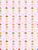 Seamless Ballet pattern Royalty Free Stock Photos