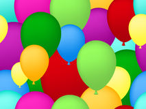 Seamless balloons background. Colorful seamless balloons with balloons Royalty Free Stock Image