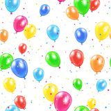 Seamless balloons background Royalty Free Stock Photography