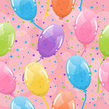 Seamless balloons background Stock Photo