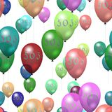 Seamless balloons with inscription 503 royalty free stock photo