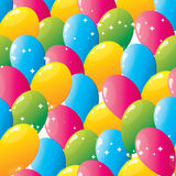 Seamless balloons pattern Stock Photography