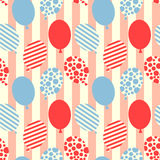 Seamless balloons pattern background Royalty Free Stock Image