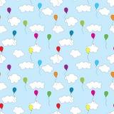 Seamless balloons pattern Stock Image