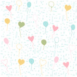 Seamless balloons pattern, wallpaper Royalty Free Stock Images