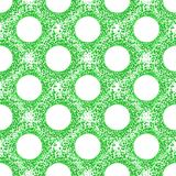 Seamless Balls Bubbles Green Pattern. Circles pattern with green bubbles reminfind micro organisms. Seamless tile Stock Photos