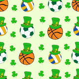 Seamless balls of a St. Patrick's Day Royalty Free Stock Images